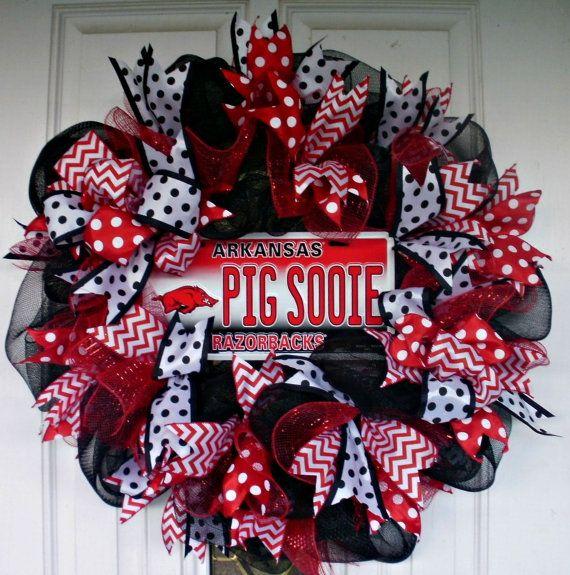 Arkansas Wreath Arkansas Razorbacks Wreath Mesh by MeMaandCo