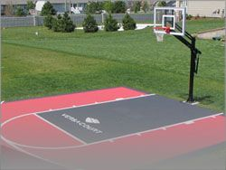 home basketball court surface | Basketball Courts Outdoor Court Surface Custom Hoops