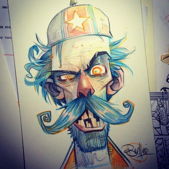 Warmin up on head sketch orders... #tgif ☕️✏️ #prismacolor#copics