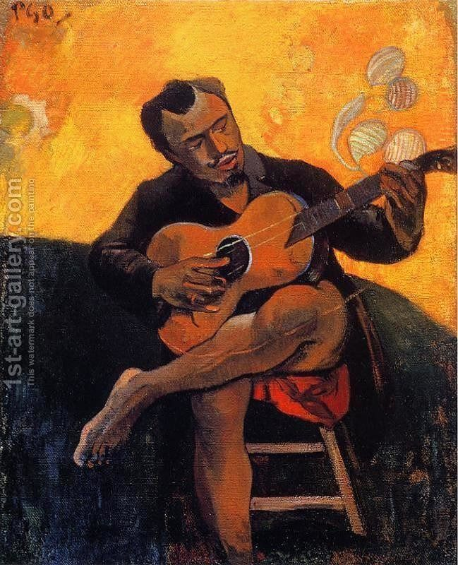 The Guitar Player With Images Paul Gauguin Art Artwork