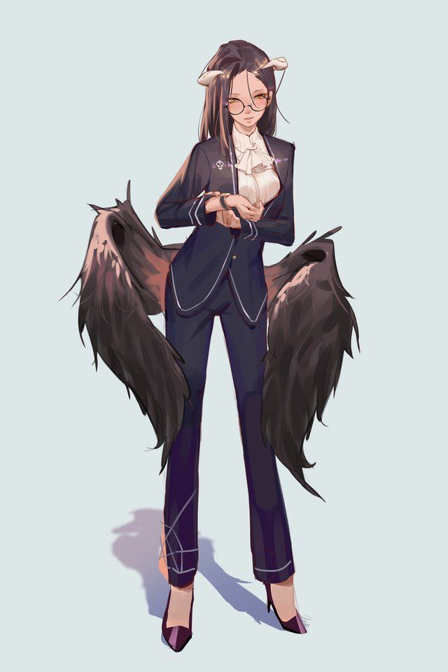 Another Businesswoman Albedo Fanart Overlord Manga Girl
