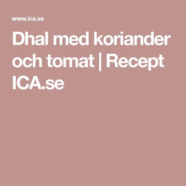 Dhal med koriander och tomat | Recept ICA.se