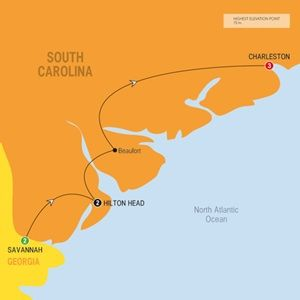 Map of Secrets of the Old South - Summer 2015 - NO JUNE JULY AUGUST