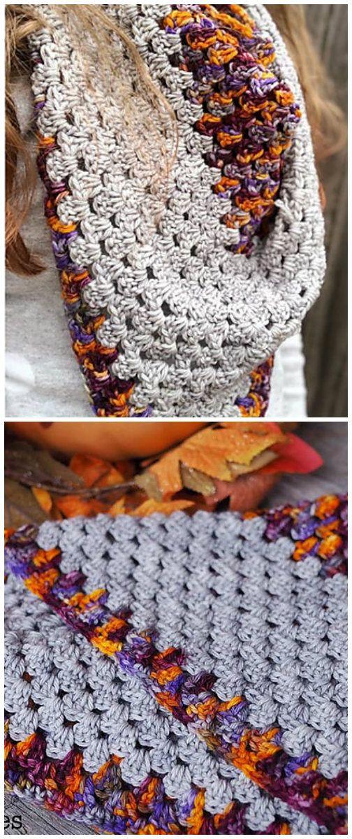 Granny Stitch Bandana Scarf Crochet Shawls Free Crochet Patterns