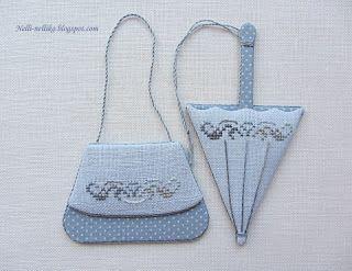 Bolso y paraguas