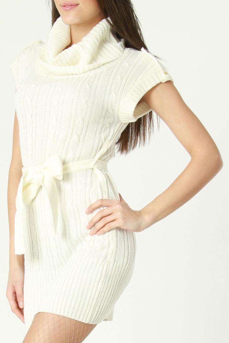 Dex Dorothy Sweater Dress In Winter White