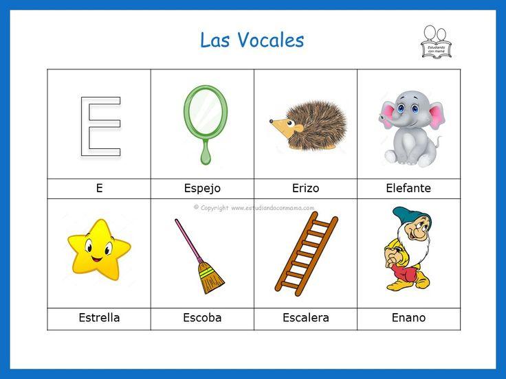 Palabras que inician con la vocal e vocales vocales for Pesci con la e