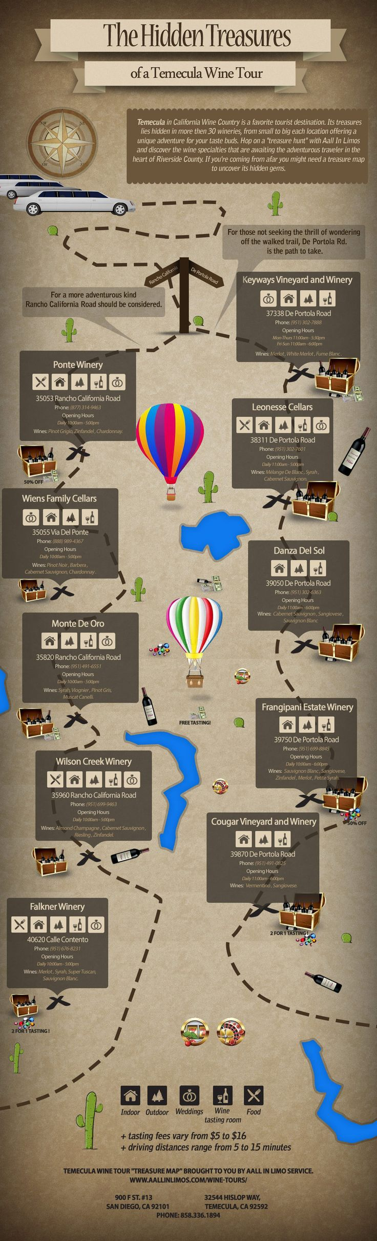 Map Of Temecula Wineries. There are more then are on this map, but this map is a good place to start for anyone visiting Temecula Wine Country for the first time, and features some hidden treasures that are often overlooked.