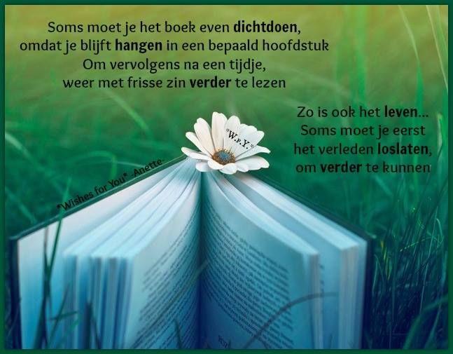 Soms moet je het boek even dicht doen....