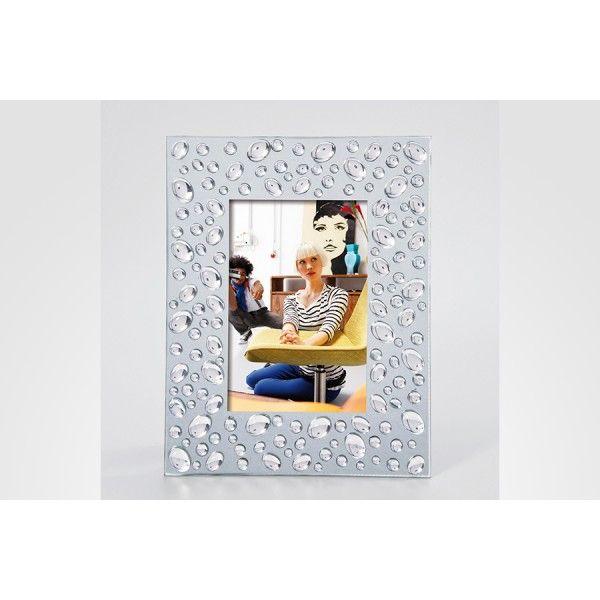 Porta Retratos Bolhas para fotos 10x15, Medidas: 22,5 x 17,5cm  Cor: Prata