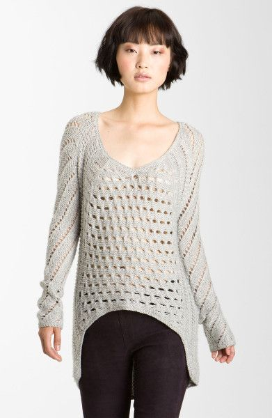 Helmut Lang Gray Inherent Texture Knit Sweater