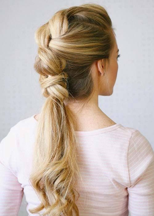 100 Trendy Long Hairstyles for Women: Knotted Ponytail
