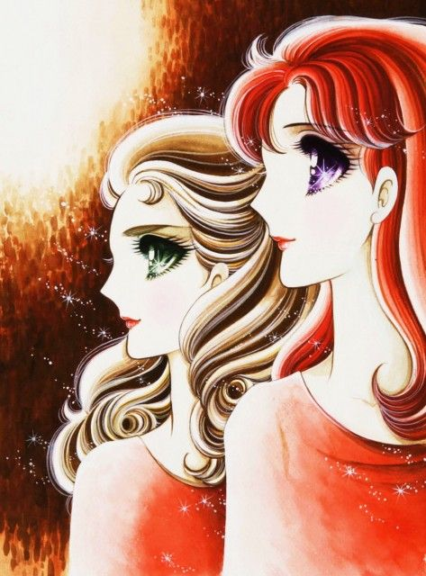 """Ayumi Himekawa & Maya Kitajima from """"Glass Mask"""" series by manga artist Suzue Miuchi."""