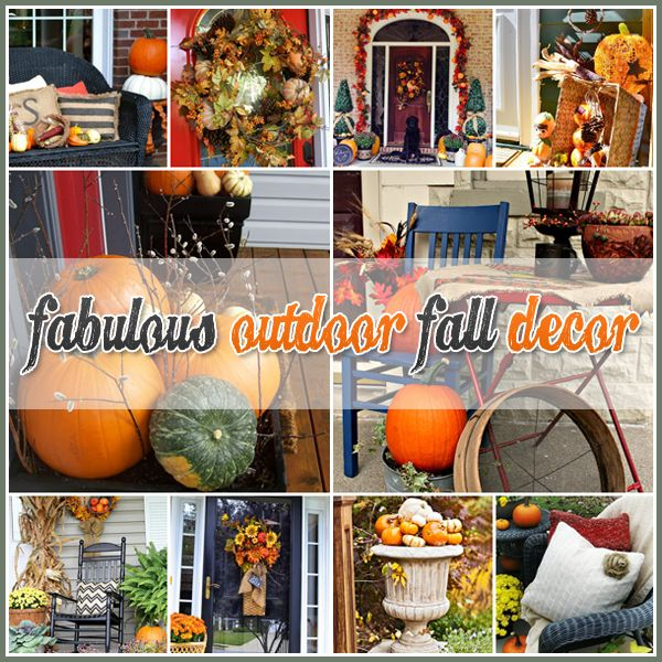 Thanksgiving Yard Decorations Ideas : Outdoor fall decor ideas diy pinterest