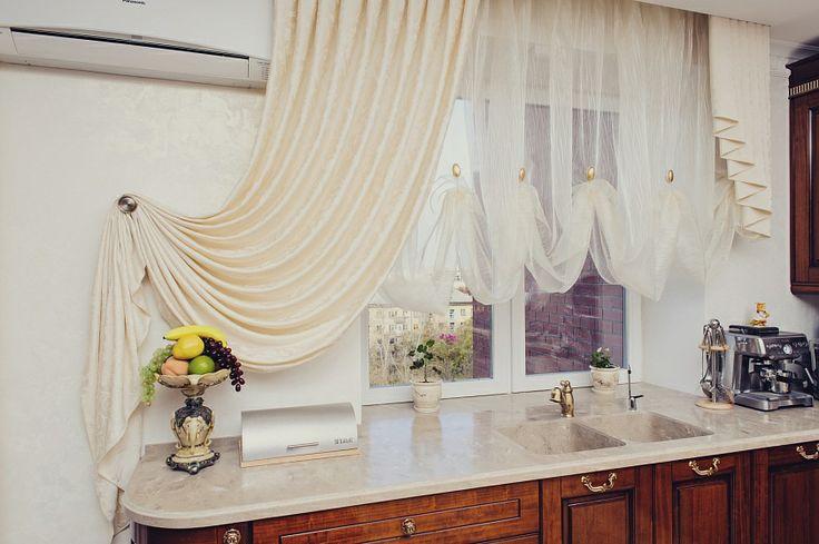 """Декор окна на классической кухне. Ольга Адольф, """"Леди прима"""""""