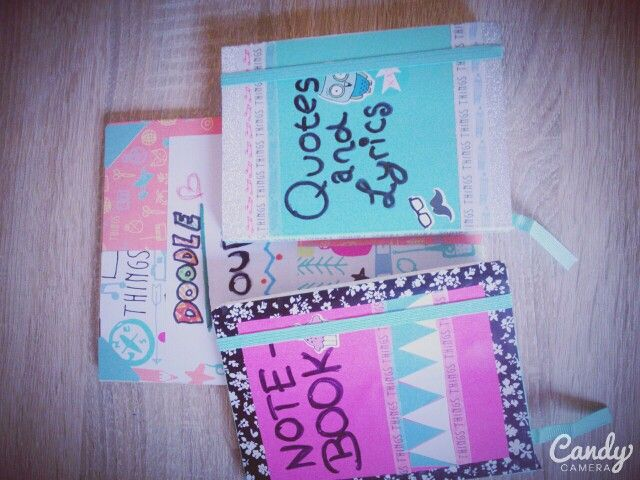 Haha got creative today and did a notebook, a little book for my fav quotes and lyrics and a Doodle Journal