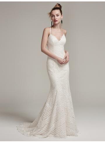 abiti da sposa da sposa guaina elegante