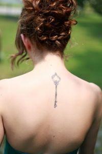 Secret Key Tattoo On Back