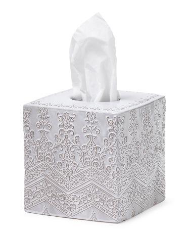 Medallion Lace Tissue Box Bathroom T J Maxx Tissue