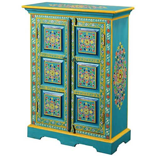 1000 images about painted cabinets on pinterest vintage - Meubles indiens peints ...