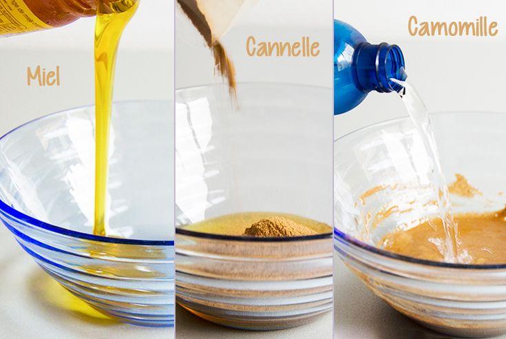 DIY coloration avec miel cannelle camomille