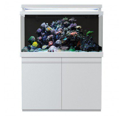 Red Sea MAX 500 S-Line Reef Aquarium System with Stand - Pearl White - 135 gal