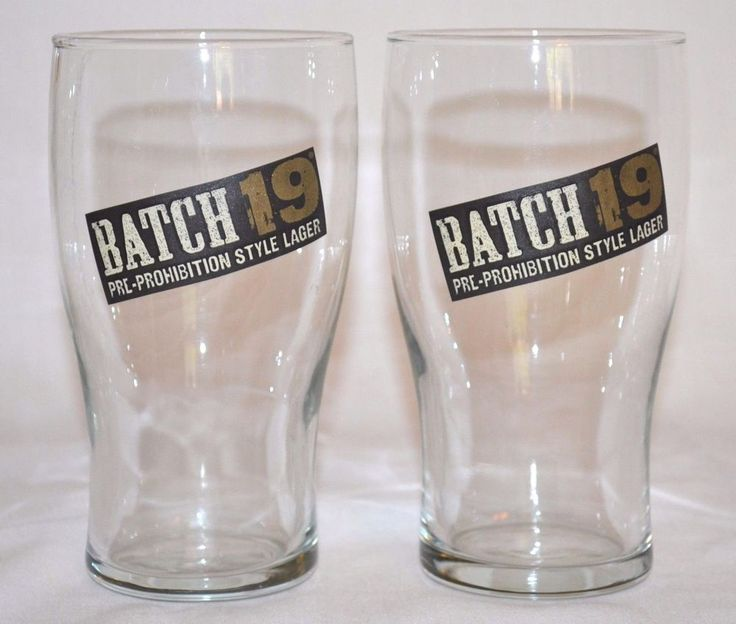 2 COORS BREWING COMPANY BATCH 19 Pre-Prohibition Style Lager Pint Beer Glasses  #Batch19PreProhibitionStyleLagerBeer