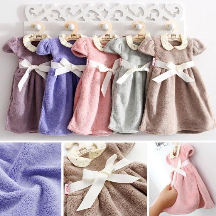 3 xcute bambini del vestito del fumetto appeso asciugamano addensare corallo del velluto bambini asciugamano appeso viso asciutto asciugamani home decor cucina regalo(China (Mainland))