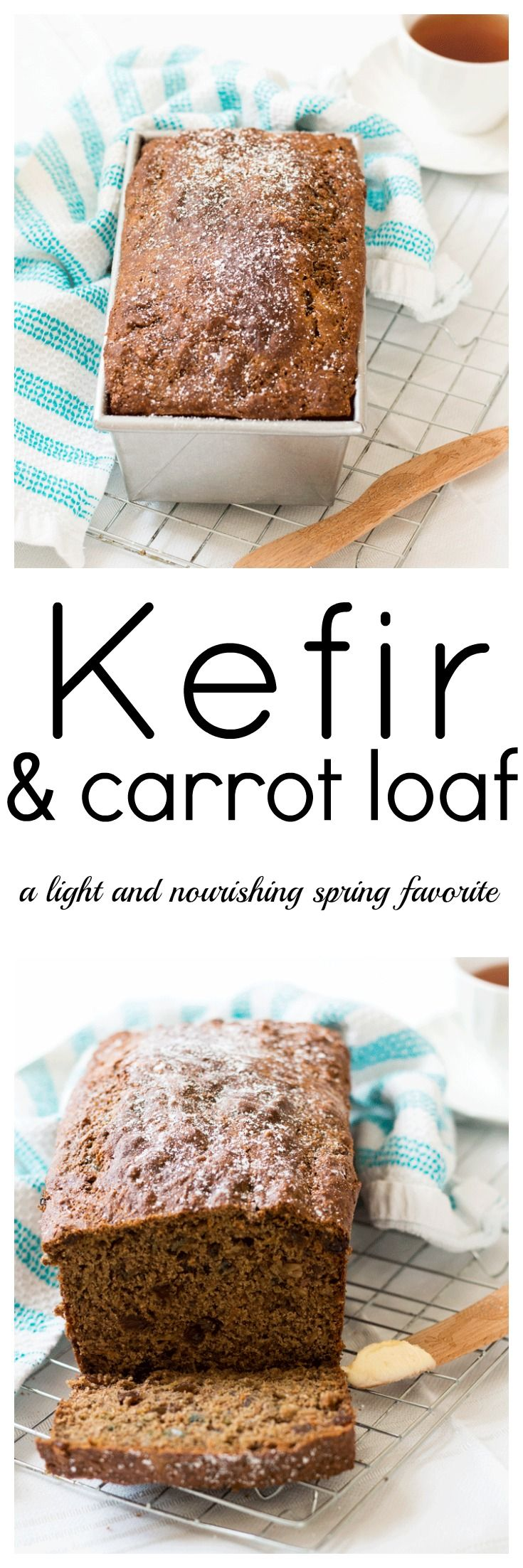 Imagine a Carrot Loaf that's not only delicious, but highly nourishing as well. Well, you can eat it too with this Kefir and Carrot Loaf full of goodness. via @wholefoodbellies