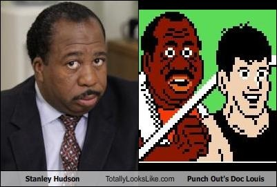 Stanley Hudson (Leslie David Baker) Totally Looks Like Punch Out's Doc Louis