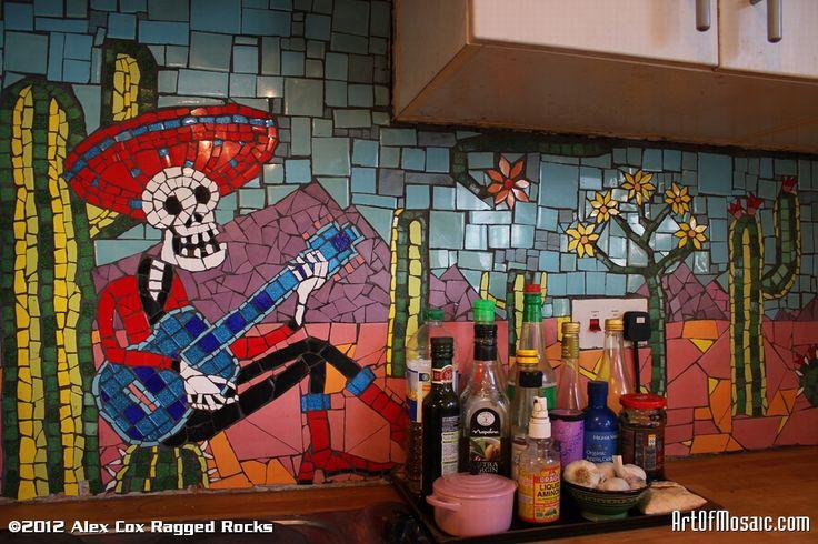 Calavera - Día de los Muertos theme kitchen back splash