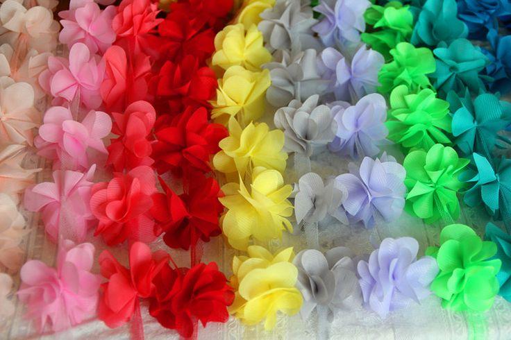 Купить товар10 Г/много 16 Цвет 3D шифон цветы кружевной отделкой кружевной ткани DIY свадебные букеты обувь корсаж свадьба ребенок одежда аксессуары в категории Кружевона AliExpress. дорогой, добро пожаловать в мой магазин. в этом, я желаю вам счастливую покупку...ткань Имя:шифон цветы кружеваШи