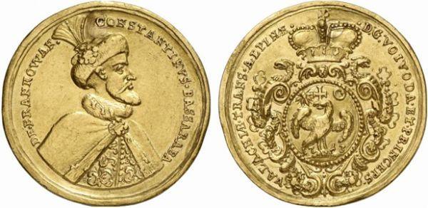 Wallachia - Constantin Brancoveanu 1713: ·D:G:VOIVODA·ET·PRINCEPS· ___ ·VALACHIAE·TRANS·ALPINAE·