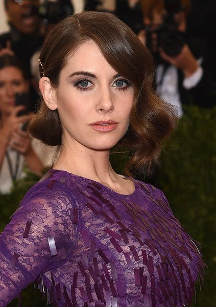 Alison Brie Lookbook: Alison Brie wearing Retro Updo (2 of 11). Alison Brie wore a vintage-glam finger-wave updo at the Met Gala.