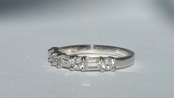 925 Sterling Silver half eternity ring with CZ