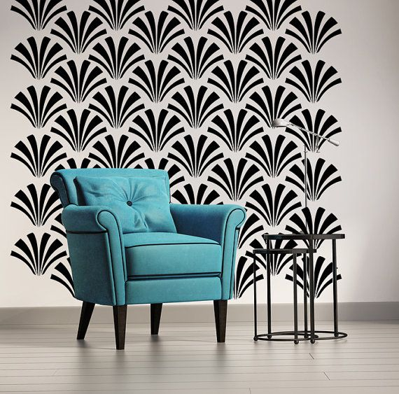 Retro Wall Decor Geometric Wall Decal Mod Mid by WallStarGraphics