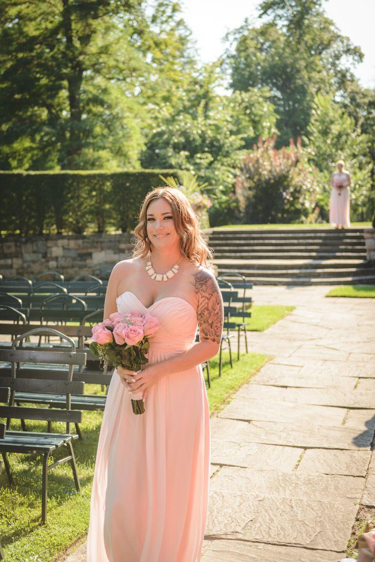 Summer, august wedding. Glowing bridesmaid, backlit portrait at Parkwood Estates - Oshawa wedding photography