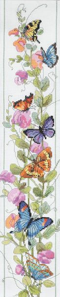 Butterfly Bell Pull Counted Cross Stitch Kit-4-1/2 X22 14 Count