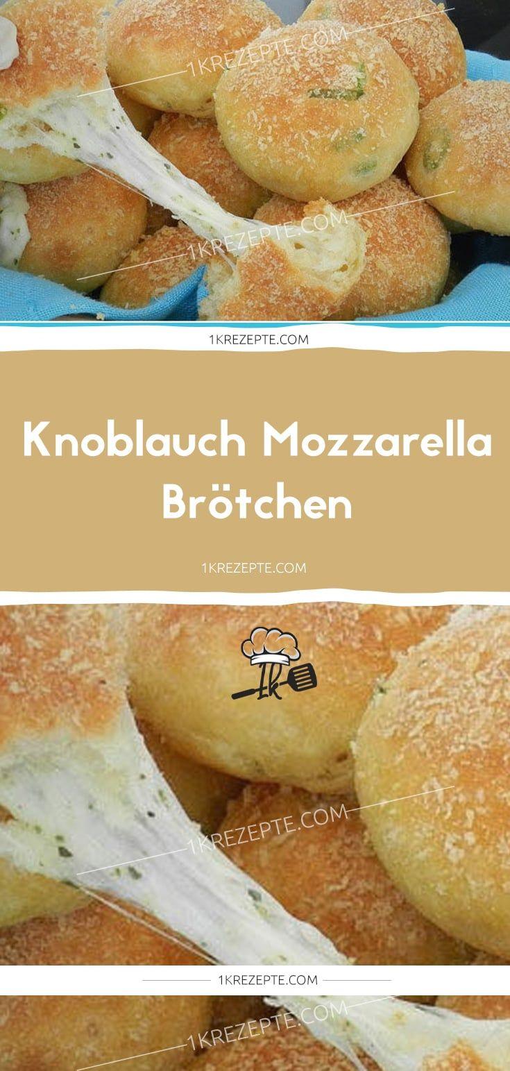 Knoblauch Mozzarella Brötchen