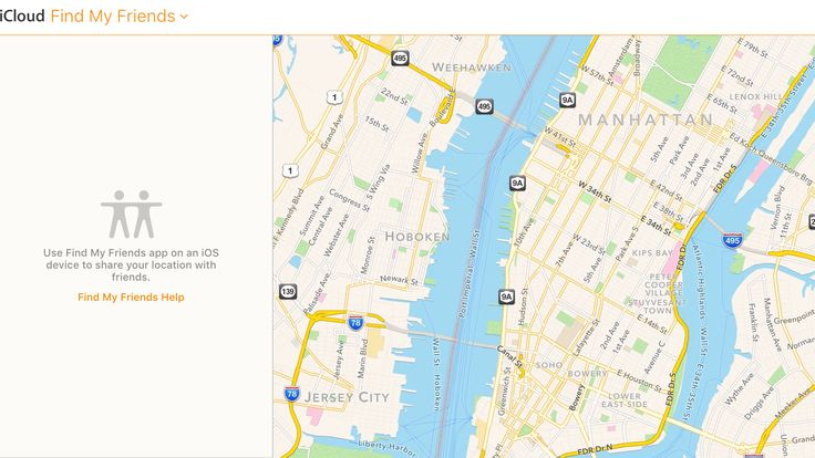 Find My Friends is now accessible on www.icloud.com
