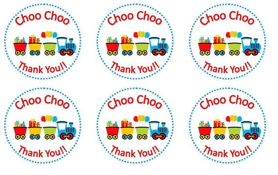 Choo Choo Train Birthday Sticker by ClassyAndSimple on Etsy, $3.75