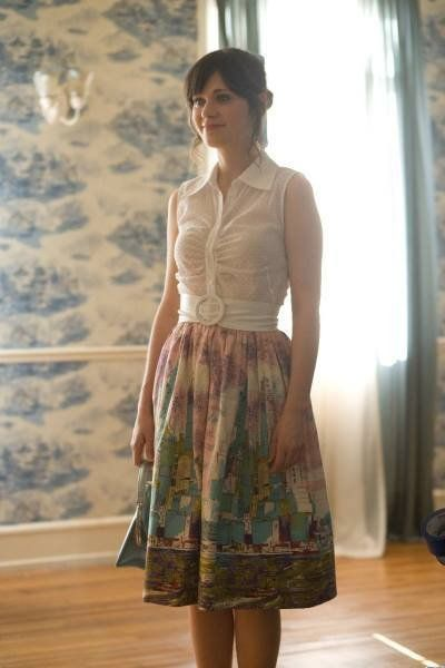 Zooey Deschanel, I'm going to her concert in June, so I need some outfit inspiration.