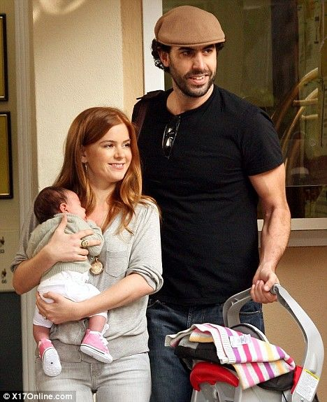Family unit: Sasha Baron Cohen and Isla Fisher, pictured with their ...