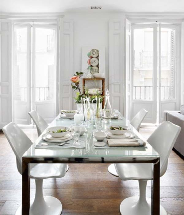 White dining room design by vintage spain house ideas  Photo white dining  room design by vintage spain house ideas Close up View 15 best Dining Room Tables images on Pinterest   Dining room  . Glass Table For Dining Room. Home Design Ideas