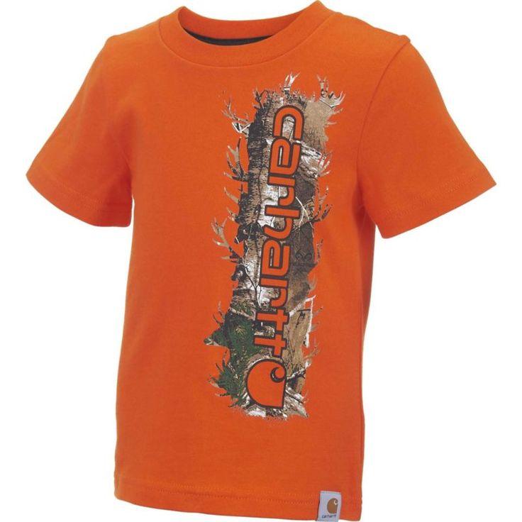 Carhartt Toddler Boys' Vertical Camo T-Shirt, Size: 4T, Orange