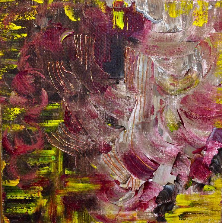 """Feofeo -  My Soul on Paintings Il mio sentire artistico è un flusso costante di pensiero intuitivo, un ininterrotto messaggio sonoro che dal cuore esce e si trasforma in colore. I """"miei pensieri sulle tele"""", così mi piace definire le mie opere, sono continui messaggi di connessione cosmica, a volte decifrabili in frequenze che rappresento come bande colorate orizzontali, talvolta interrotte, talvolta continue, sequenze colorate come spartiti musicali."""