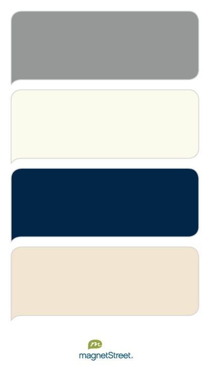 Classic Gray, Ivory, Navy, and Champagne Wedding Color Palette - custom color palette created at MagnetStreet.com