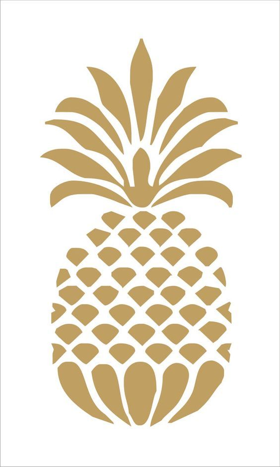 Pineapple Reusable Stencil 8 Sizes Available Create