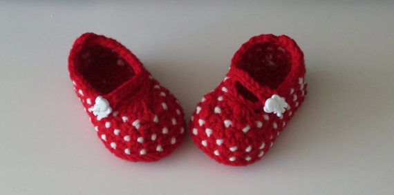 PRIK.. hæklet babysko by HansinaDesign on Etsy