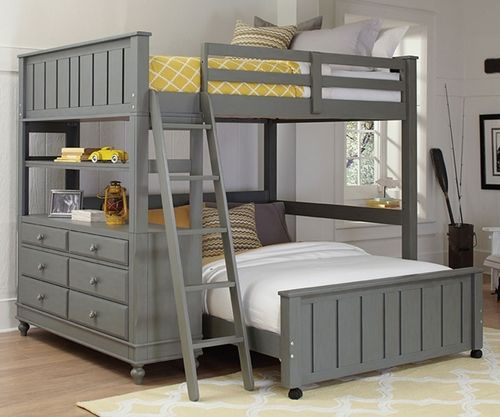 ★ Buy our Lakehouse Stone Finish Loft Bed with a Full Size Lower Bed  ★ Make the most out of your child's bedroom with the 2045 twin size NE Kids Loft Bed ★ Complete selection of Lakehouse beds at Kids Furniture Warehouse